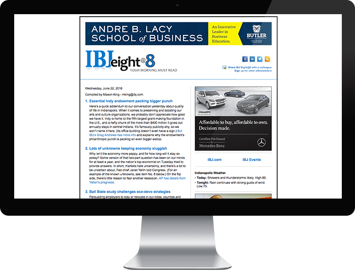 IBJ Eight@8 e-Newsletter